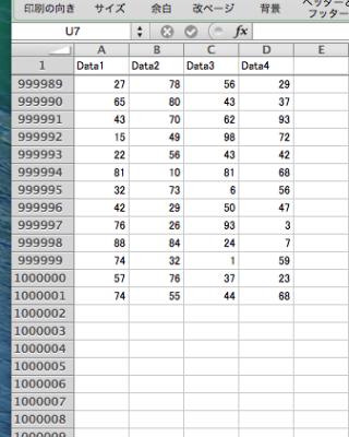 Rで解析:4列×100万行のデータもエクセルに出力!「WriteXLS」パッケージの紹介